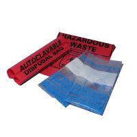 Biohazard Autoclave Bags, Red,24 x 32in. (61 x 81.3cm)