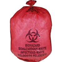 Biohazard Bag, Red, 12 x 24in (30.8 x 61cm)