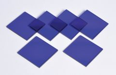Cobalt Glass Plates