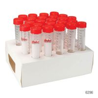 DIAMOND MAX Centrifuge Tube, 15mL, Attached Red Flat Top Screw Cap, Polypropylene, Printed Graduations, STERILE, Certified. 20 Racks/Unit