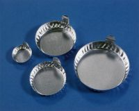 Disposable Round Aluminum Dishes with Tabs